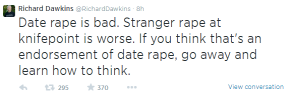 STFU: Richard Dawkins And The Arrogance OfRape-splaining